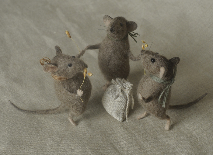 stuffed mice: harvest