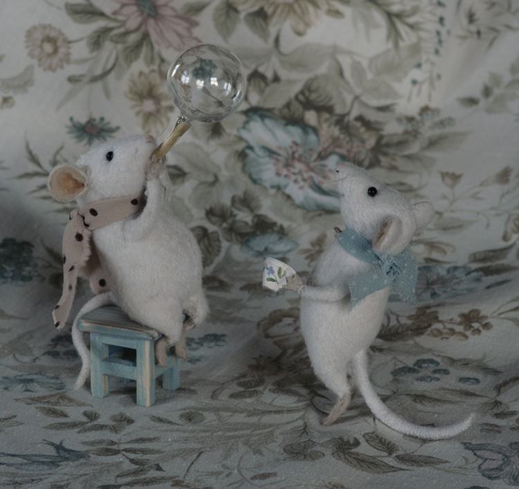 mice blowing bubbles