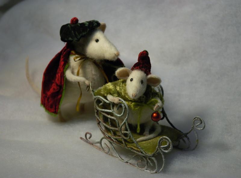 Stuffed Animals By Natasha Fadeeva Christmas Mice