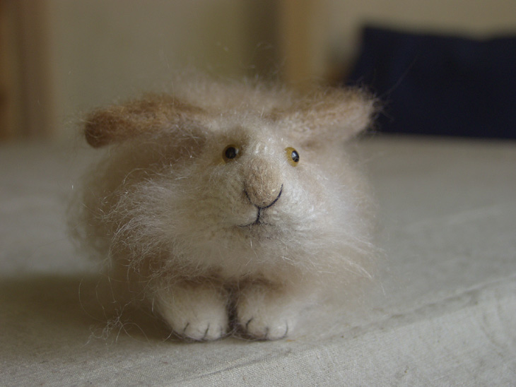 fluffy stuffed rabbit