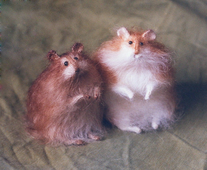 stuffed hamsters