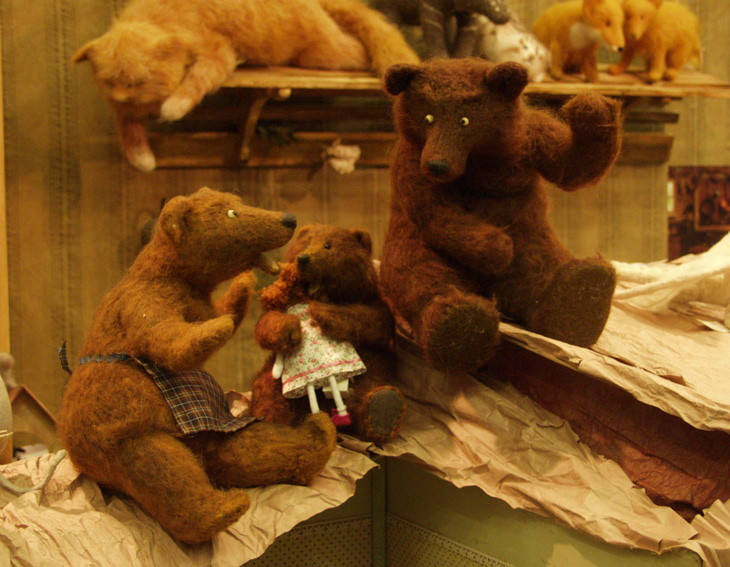 three bears and a doll