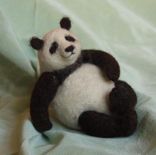 панда - needle felting