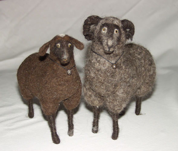 needle felted ram & sheep