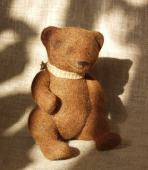 войлочный медведь (валяние)