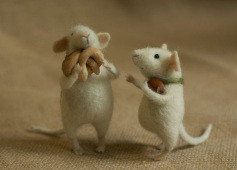two small stuffed mice