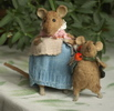 """mice picking berries"" miniature"