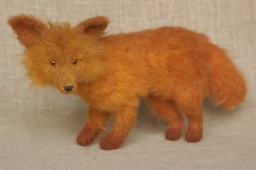 stuffed red fox