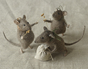 """harvesting mice"" stuffed animals"