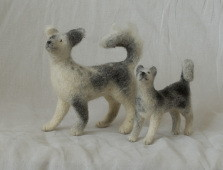 needle felted dogs