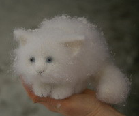 stuffed white kitty