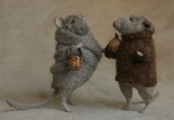 """autumn rats"" stuffed animals"