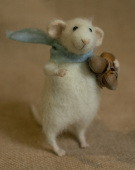 stuffed mouse with hazel nuts