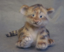stuffed tiger cub