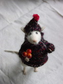 stuffed mouse wearing hat