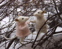 "'winter mice on snow"" stuffed animals"