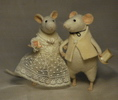 """newly wedded"" stuffed mice"