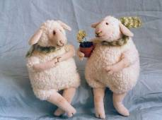 two stuffed sheep