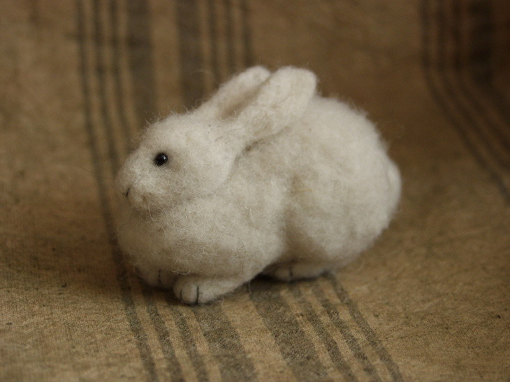 needle-felted hare